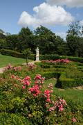 France, French formal garden in the Domaine de Villarceaux - stock photo