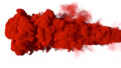 red Smoke Alpha-Channel - stock footage