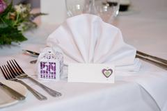 Banquet table detail - stock photo