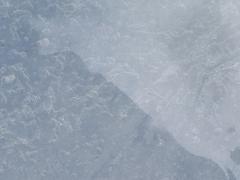 translucent blue ice - stock photo