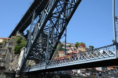 historical bridge of the city of Porto in Portugal - stock photo