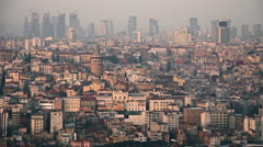 Aerial view of old buildings in Istanbul  Stock Footage