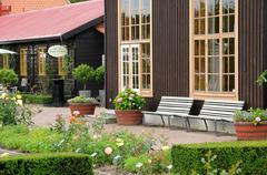 the garden of Tradgardsforeningen in Gothenburg - stock photo