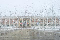 Rain on the glass Stock Photos