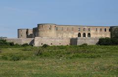 Stock Photo of Sweden, the ruin of Borgholm renaissance castle