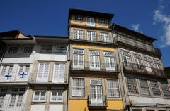 House in the city of Guimaraes in Portugal Stock Photos