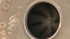 BlackSmith Blower Fan Closeup Spinning Blades Stock Footage