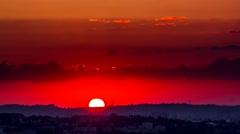 sunrise on the city timelapse - stock footage