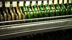 Bottling factory Stock Footage
