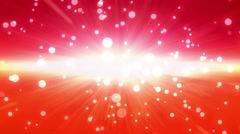 Bokeh glow background forward red Discount period Stock Footage