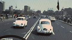 Egypt 1970s: driving in the streets of Cairo - stock footage
