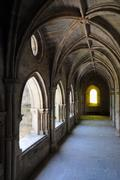 cathedral of Evora in Portugalthe cathedral cloister of Evora in - stock photo