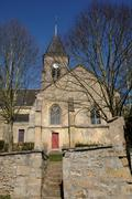 church of Fremainville in Val d Oise - stock photo