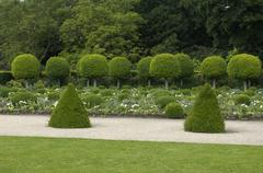 France, formal garden of the castle of Sceaux - stock photo
