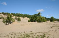 Stock Photo of Quebec, the picturesque dunes of  Tadoussac