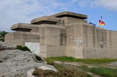 France, Le Grand Blockhaus in Batz sur Mer - stock photo