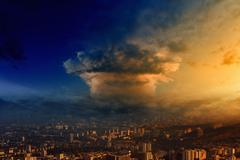 Mushroom cloud - stock photo