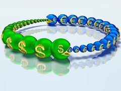 Voracious caterpillars are chasing each other and for the money - stock illustration