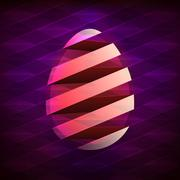 Abstract easter egg graphics designed as a swirl around egg Stock Illustration