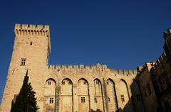 France, Le Palais Des Papes in Avignon - stock photo