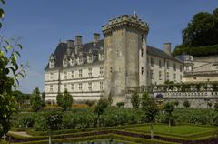 France, the renaissance castle of Villandry - stock photo