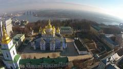 St. Michael's Golden-Domed Cathedral in Kiev, Ukraine Stock Footage