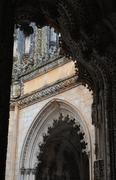 The historical monastery of Batalha in Portugal Stock Photos