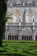 Renaissance cloister of Batalha monastery in Portugal Stock Photos