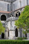 The cloister of Alcobaca monastery in Portugal Stock Photos