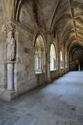 Cathedral of Evora in Portugalthe cathedral cloister of Evora in Stock Photos