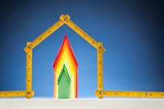 Building Energy Efficient Home Stock Photos