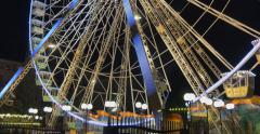 Tilt of ferrys wheel in the park of Nice, France Stock Footage