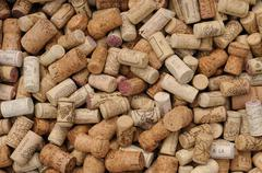 assortment of French wine corks - stock photo