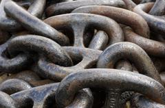 old anchor chain - stock photo