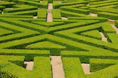 Stock Photo of France, French formal garden in the Domaine de Villarceaux
