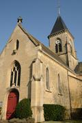 France, church of Frémainville in Val d Oise - stock photo