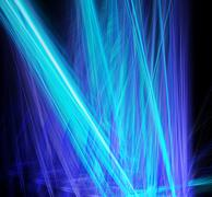 Abstract blue laser beams cut through the darkness Stock Illustration