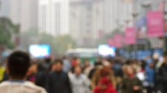 Shanghai East Nanjing Road crowd Stock Footage