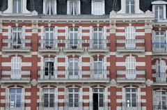 Normandie, a house in Trouville sur Mer Stock Photos
