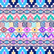 Aztec background - stock illustration