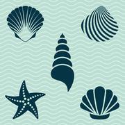 Sea shells - stock illustration