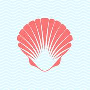 Sea shell - stock illustration
