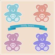 Stock Illustration of Teddy bears