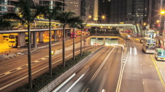 Night road. Asia Stock Footage