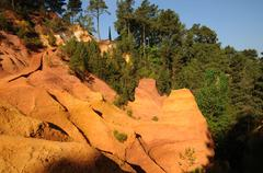 Lubéron, the Ochre Footpath in Roussillon Stock Photos