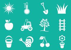Gardening icons - stock illustration