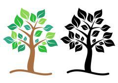 Tree icons - stock illustration