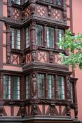 Alsace, old and historical district in Strasbourg Stock Photos