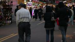 Vendors and shoppers at Lehua Night Market Stock Footage