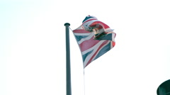 Union Jack Flag in SlowMotion 1000fps - stock footage